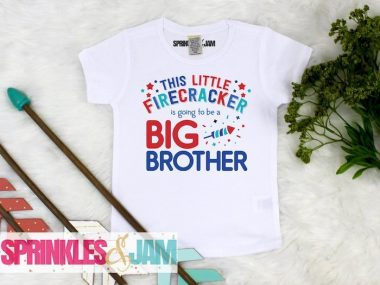 Big Brother 4th of July Pregnancy Announcement T Shirt