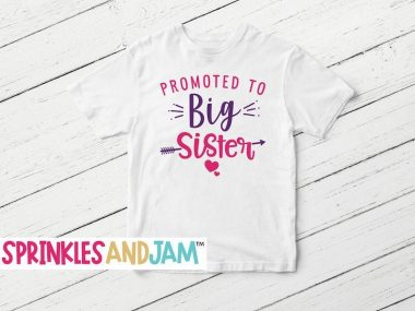 Promoted to Big Sister T Shirt