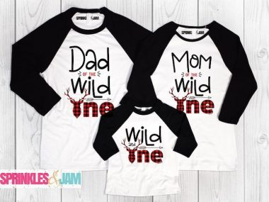 Wild One Birthday Matching Family Shirts