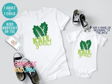 Kale Yeah! Mommy & Me Matching Family Shirts