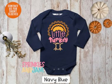 Little Turkey Funny Thanksgiving Shirts For Baby