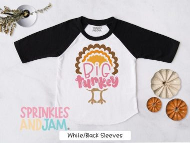 Big Turkey Thanksgiving Shirts For Toddlers