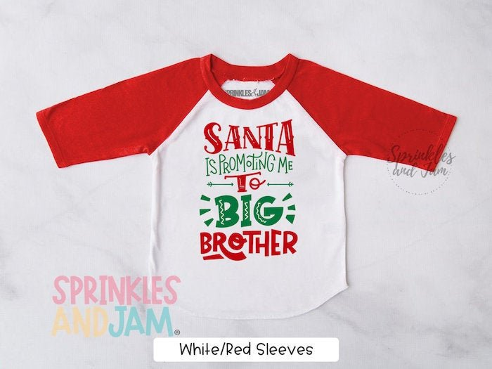 Christmas Pregnancy Announcement Promoted to Big Brother  Big Sister Est 2020 Tshirt Christmas Gifts for Baby Clothes Toddler Tshirt TST-